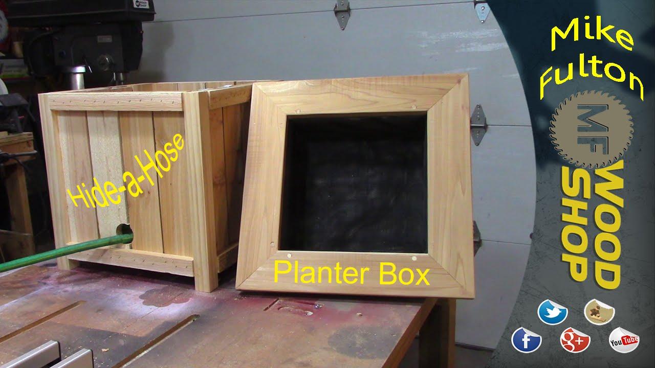 Hide A Hose Planter Box Youtube