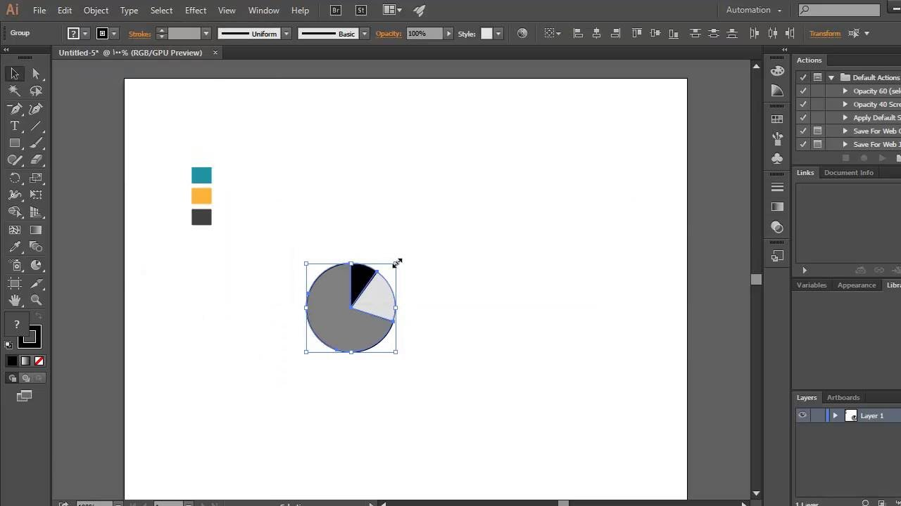 how to make a pie graph in illustrator