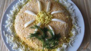 Салат с печенью трески  Рецепт салат