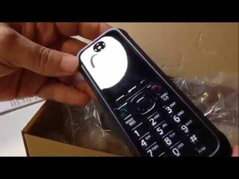 unBoxing Panasonic KX-UDT131 wireless VoIP phone