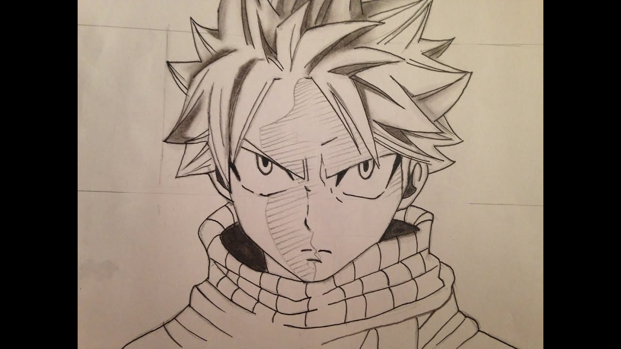 How to draw natsu fairy tail