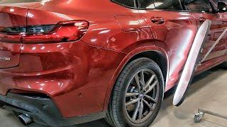 BMW x4 ремонт вмятины на двери   PDR