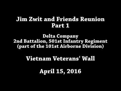Jim Zwit and friends Reunion at the Vietnam Veterans Wall 2016 - Part 1