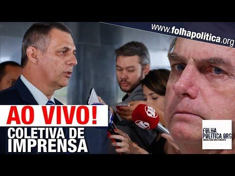 AO VIVO: PRONUNCIAMENTO E COLETIVA DO GOVERNO BOLSONARO - GENERAL RÊGO BARROS - SUZANO