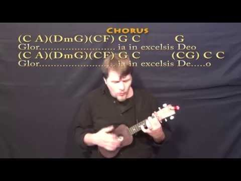 Angels We Have Heard On High - Ukulele Cover Lesson with Lyrics/Chords