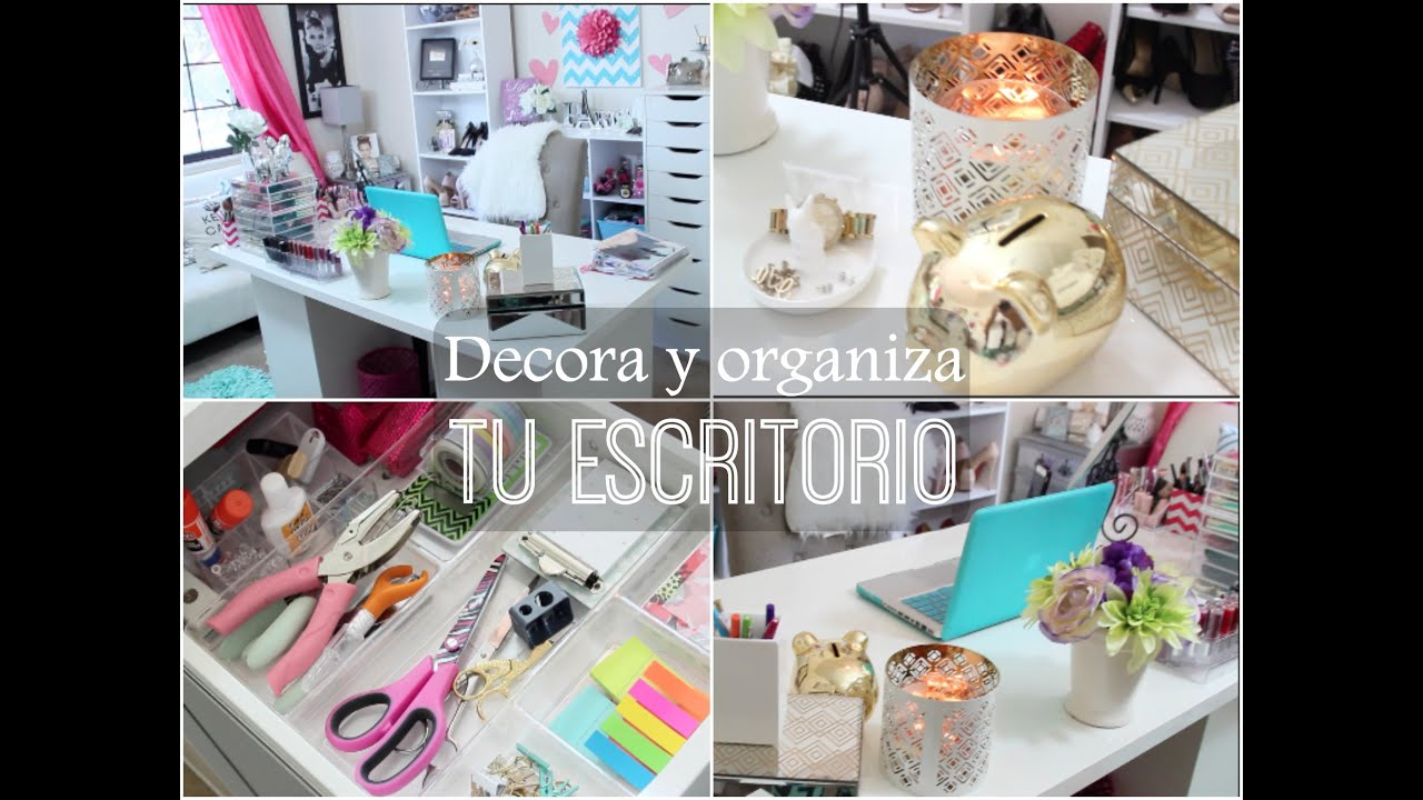Organiza y decora tu escritorio jasminmakeup1 youtube for Como decorar tu escritorio de oficina