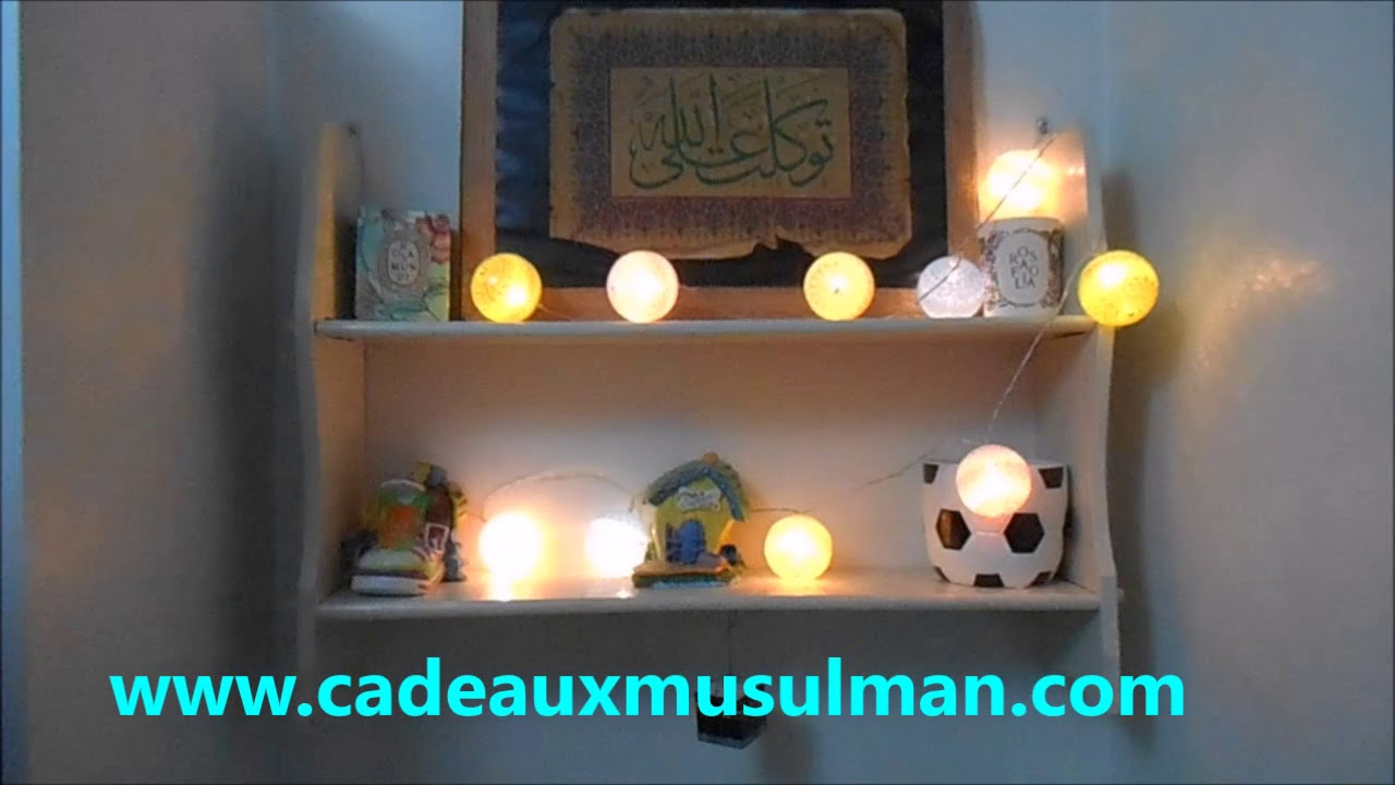 guirlande lumineuse boule de coton youtube. Black Bedroom Furniture Sets. Home Design Ideas