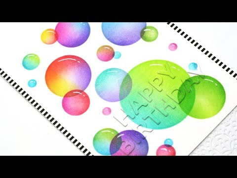 How to Create a Bubble Background Design with Distress Inks