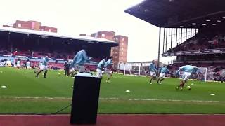 West Ham pre-match warmup v Swansea February 2013