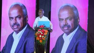 Dr A Velumani speaking at the customer appreciation banquet of Spinco Biotech