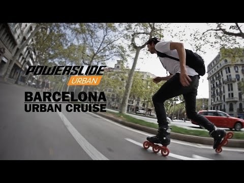 Barcelona Urban Cruise - big city Freeskate action on Powerslide Inline Skates