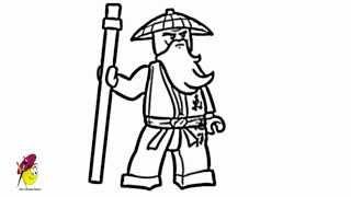 Sensei Ninjago - How to draw Ninjago