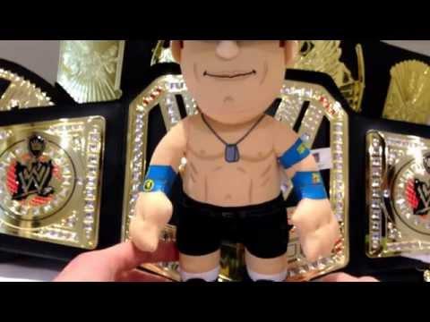 WWE Live Melbourne 2015 review, World heavyweight championship belt & John Cena bleacher creature