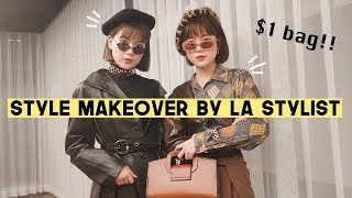 LA Stylist Gave Us Twin Outfits Makeover On A Budget ($1 BAG!!) | Q2HAN