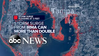 Tampa St  Petersburg area is at risk for dangerous storm surge flooding