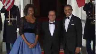 Politics with side of caviar: Obama welcomes Hollande at state dinner