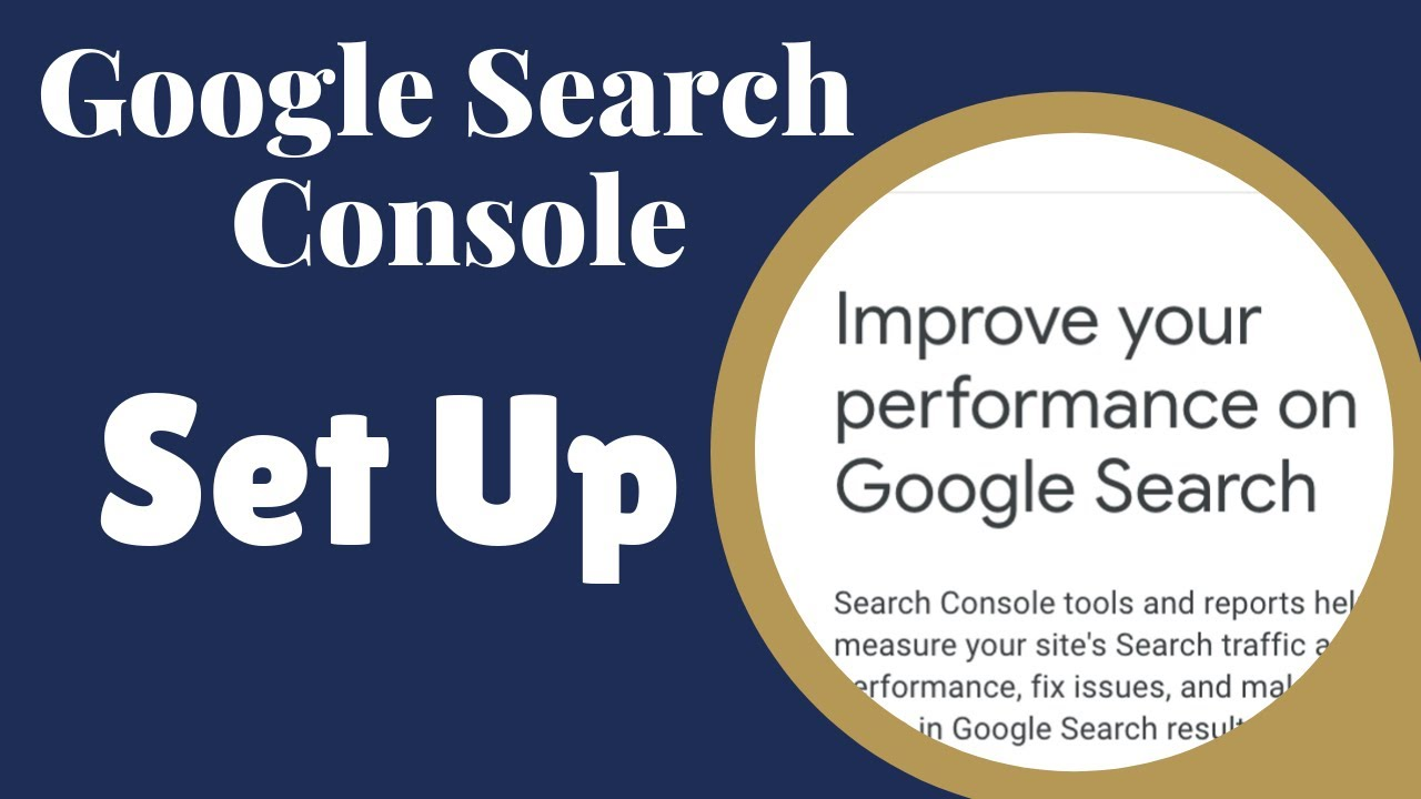 how to set up google webmaster tools youtube