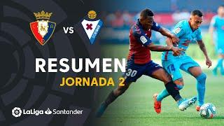 Resumen de CA Osasuna vs SD Eibar (0-0)