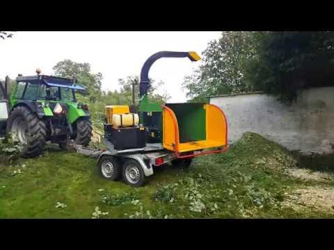 ASH Service - Udlejning af NHS Flishugger - Flishugning af selv mindre træer