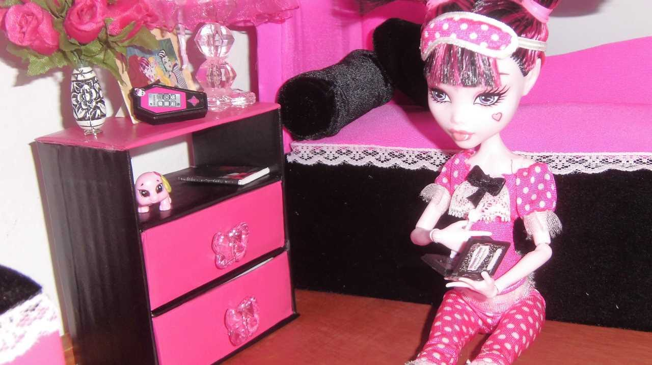 How to make a nightstand for doll Monster High EAH Barbie etc