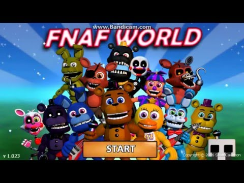 FNaF World прохождение 1 часть(начало)