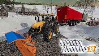 ЗАНЕСЛО В СУГРОБ! ТРАКТОР ВЫТАСКИВАЕТ ГРУЖЕНУЮ ФУРУ! Farming Simulator 19
