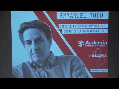 Conférence ISEGORIA Emmanuel Todd -  8-11-16