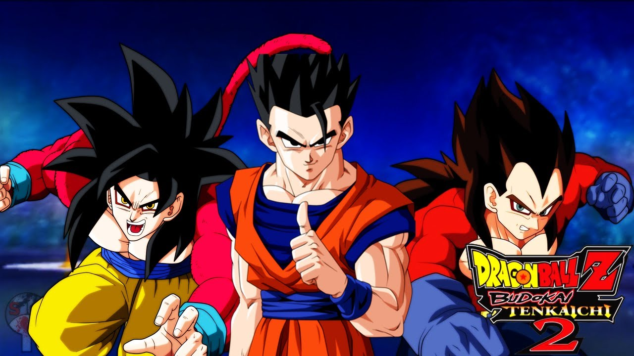 DBZ BT2 | Ultimate Gohan vs SSJ4 Goku & Vegeta - YouTube