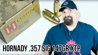 Hornady  .357 Sig 147gr XTP gel test and review