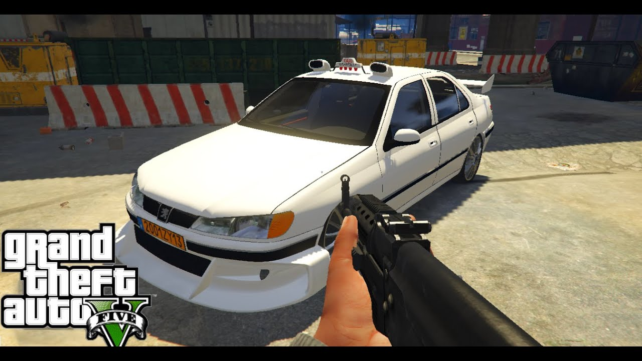 peugeot 406 du film taxi gta 5 pc mod youtube. Black Bedroom Furniture Sets. Home Design Ideas
