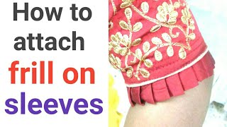 How to attach frill on sleeve,vanshika fashion