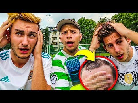 DUELL UM DIE HAARE FUßBALL CHALLENGE + GLATZE BESTRAFUNG !