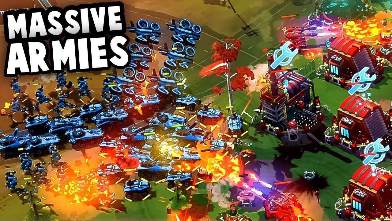 Download NEW Massive Battles Game!  Forged Battalion = Command and Conquer Meets MECHS! (Forged Battalion)