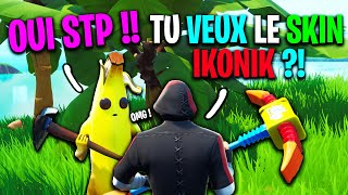 I offer the Ikonik skin to this Subscriber on Fortnite! He's shocked, here's what happened...