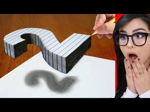 How To Draw 3D ART illusion On Paper