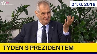 Výroky Merkelové mohou narušit vztahy, domnívá se  Zeman/Týden s prezidentem 21.6.2018