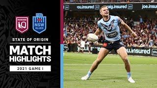 Maroons v Blues Match Highlights   Game I, 2021   State of Origin   NRL
