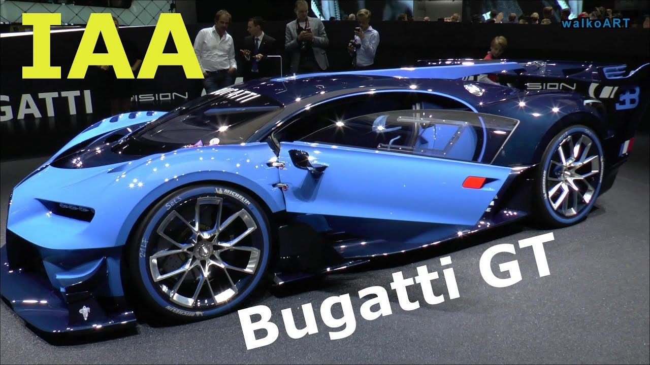 Bugatti Vision Gt Gran Turismo Chiron W16 Studie Iaa