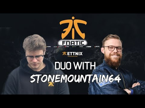 FIRST DAY AS CAPTAIN FOR FNATIC - Duos with StoneMountain64 - Ettnix 2300 WINS