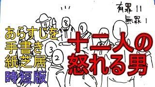 十二人の怒れる男 あらすじを手書き紙芝居時短版!