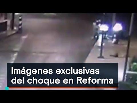 Imágenes exclusivas del BMW que chocó en Reforma - Despierta con Loret