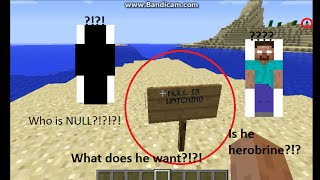 Minecraft Null sighting #2 (Herobrine Maybe?!?!)