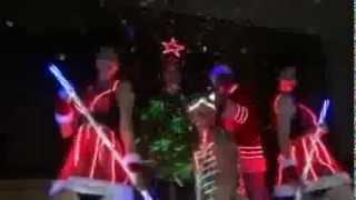 Новогоднее световое шоу  представление 2013