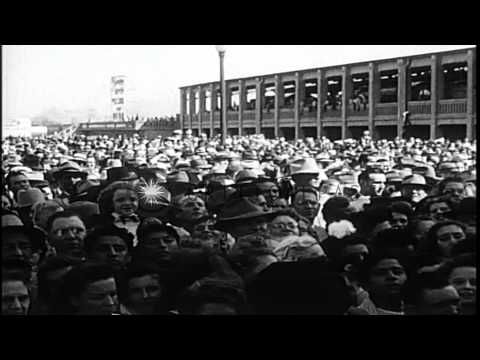 President Harry S Truman and Governor Thomas E Dewey during election campaign in ...HD Stock Footage