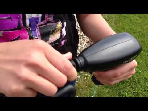 Elektrisk batteri-havesprøjte på hjul