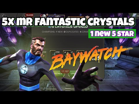 5x Mr. Fantastic Crystals A Very Lucky OPENING. 😉 Baywatch Edition Lol So 😳🙈