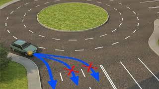 Тема № 13. Проезд перекрестков с круговым движением. Часть 6.