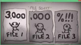 The Binding Of Isaac Afterbirth+ Saves All unlocked 3.000.000%//first in the world