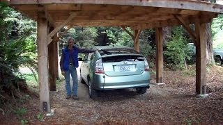 Driving A Prius Powered By The Sun