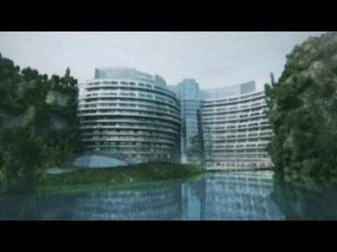 China's 5 Star Hotel... In A Giant Mine Pit